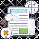 Newspaper Newsletter News Icon