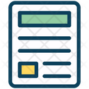 News Document Paper Icon