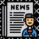Journalist Reporter News Icon
