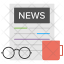 Newspaper Morning Time Icon