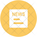 News Newspaper Communication Icon