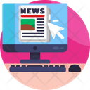 News Broadcasting News Online Icon