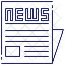 Headline News Communication Icon
