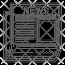 News Headline News Paper Headline Icon