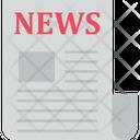 News Letter Blogging News Journalism Icon