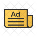 News Paper News Advertising Icon