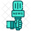 News Report News Repoter Repoter Mic Icon