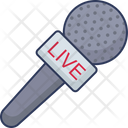 News Report Mic Mike Icon