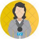 News Reporter Female Reporter Journalist Icon