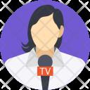News Reporter Female Icon