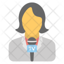 News Reporter Journalist Icon