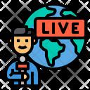 Reporter Live Journalist Icon