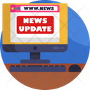 News Broadcasting Internet News News Website Icon