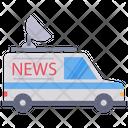 News Van Satellite Van Antenna Icon