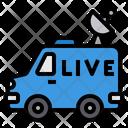 Van Broadcasting Live Icon