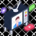 Telecasting Newsreader Newscaster Icon