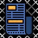 Newsletter Journal Manifest Icon