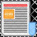 Newsletter Newspaper News Sheet Icon