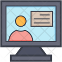 Monitor Screen Newscaster Icon