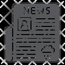 Newspaper Page Press Icon
