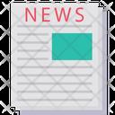 Newspaper Press Broadsheet Icon