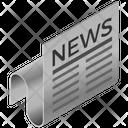 Newspaper Press Finance Icon