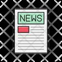 News Paper Press Icon