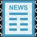 Newsletter Press News Icon