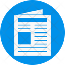 Newspaper Document Paper Icon
