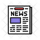 Newspaper News Articles Icon