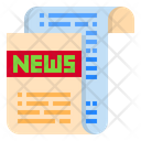 Newspaper Article Paper Icon
