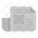 Newspaper Interface Journal Icon