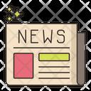 Newspaper News Communication Icon