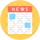 Newspaper News Article Icon