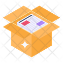 Newspaper Packaging Parcel Filling Cardboard Icon
