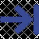 Dead End Stop Arrow Icon