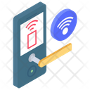 Contactless Lock Nfc Lock Security Wifi Icon