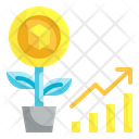 Nft Investment Nft Growth Money Investment Icon