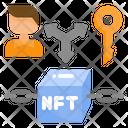 Cryptocurrency Non Fungible Token Blockchain Icon