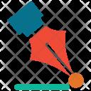 Nib Ballpoint Ink Icon