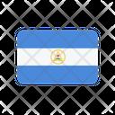 Nicaragua Flag Country Icon