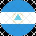Nicaragua Flag World Icon
