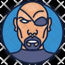 Nick Fury Ravan Headshot Devil Icon
