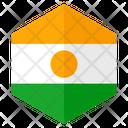 Niger Flag Hexagon Icon