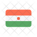 Niger Flag Country Icon