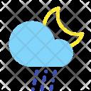 Night Sleet Rain Icon