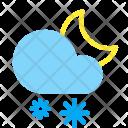 Night Snow Snowflake Icon