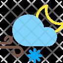 Night Snow Wind Icon