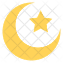 Crescent And Star Lunar Planet Icon