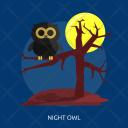 Night Owl Moon Icon